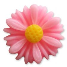 13mm BABY PINK Matte Daisy Resin Flatback Cabochons